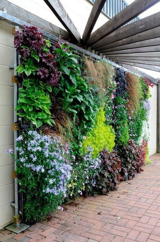 Backyard Landscaping Ideas: Enchanting Vertical Garden