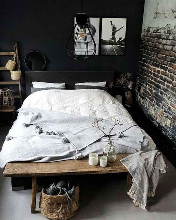 Dark Bedroom Ideas: Gorgeous Rustic Decor