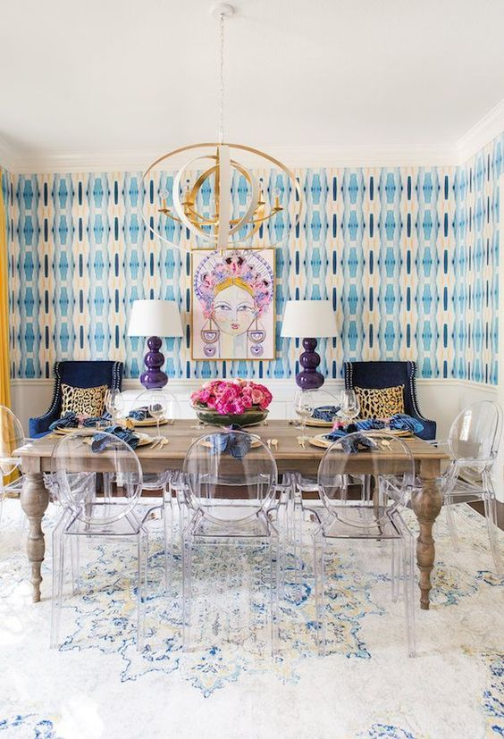 Dining Room Wallpaper: Brightly Gorgeous Decor