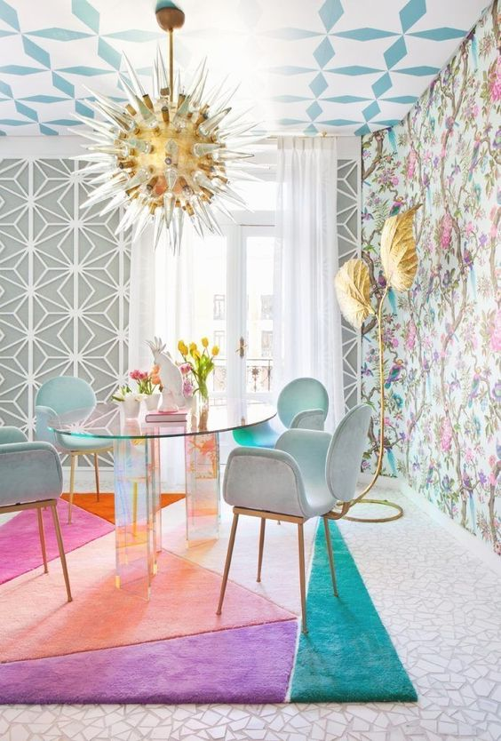 Dining Room Wallpaper: Unique Combined Decor