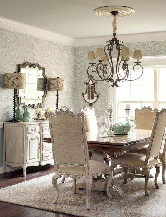 Dining Room Wallpaper: Decorative Neutral Decor