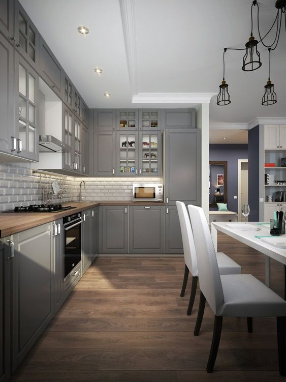 Gray Kitchen Ideas 14
