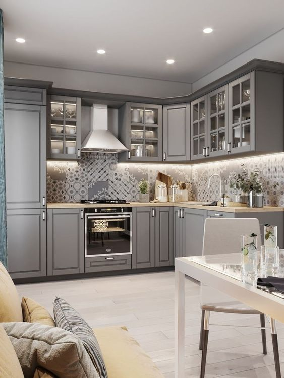 Gray Kitchen Ideas 9