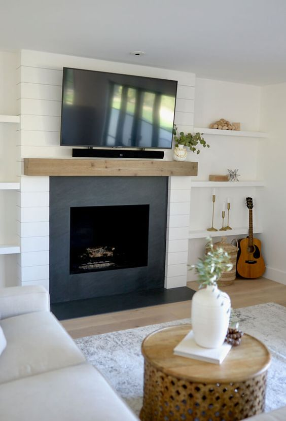 Living Room with Fireplace 13
