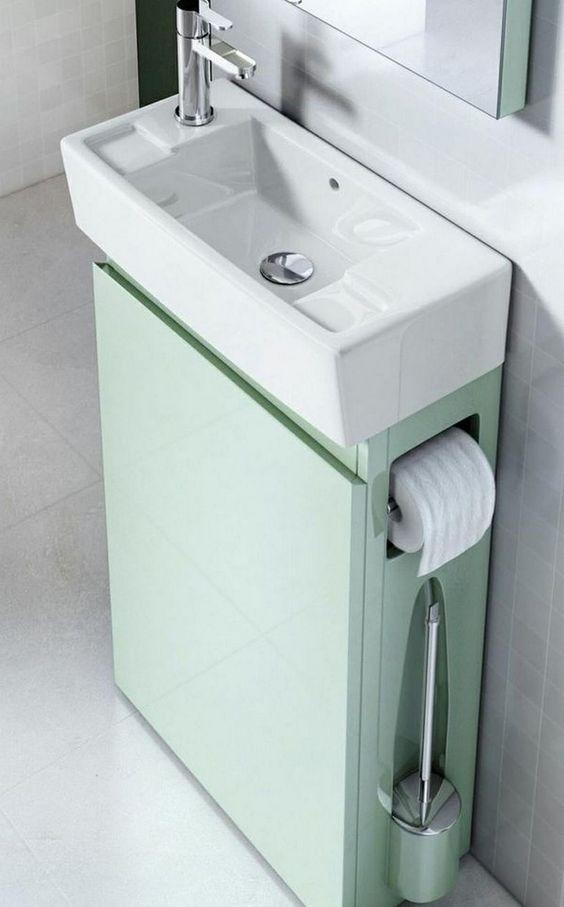 Small Bathroom Vanity: Contemporary Compact Design