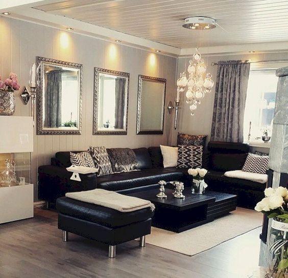 black living room 16