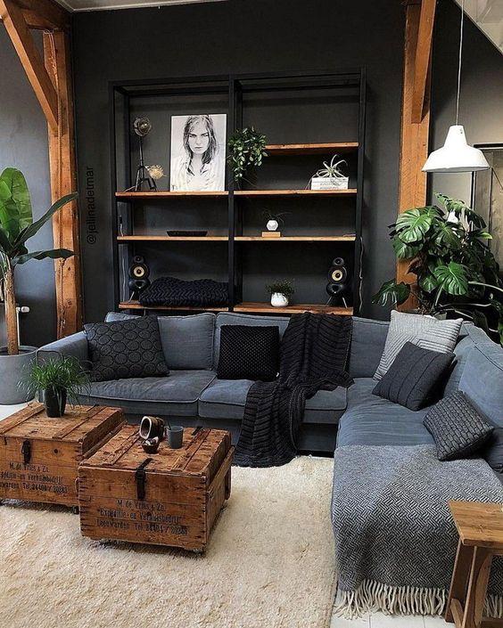 black living room 19