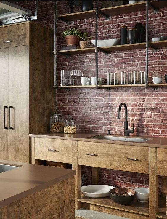 Industrial Kitchen Ideas: Warm Earthy Decor