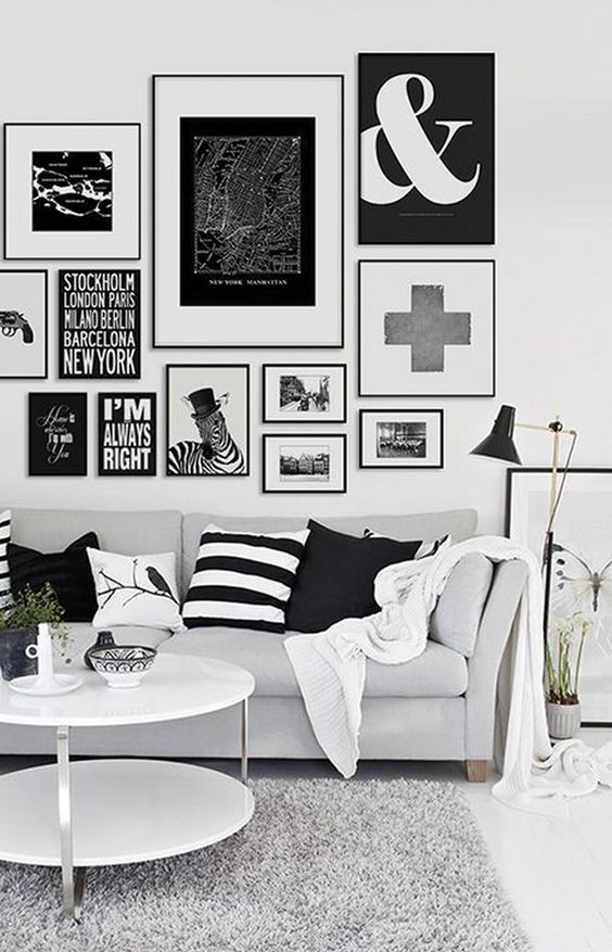 Living Room Wall: Elegant Neutral Decor