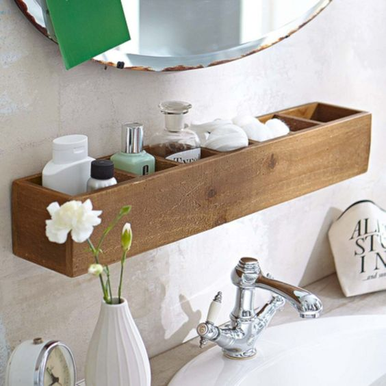 Bathroom Organization Ideas: Convenient Floating Shelf