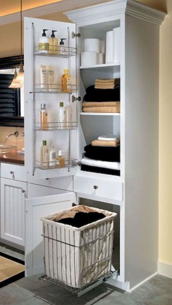 Bathroom Organization Ideas: Simple Hidden Storage