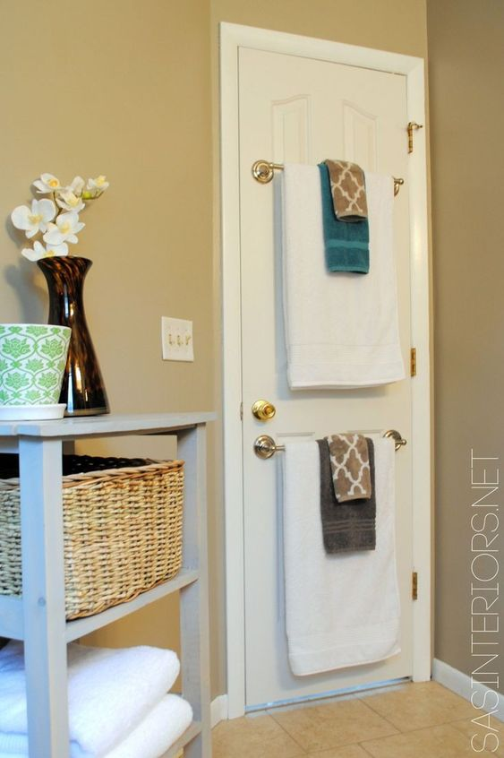 Bathroom Organization Ideas: Hidden Towel Holder