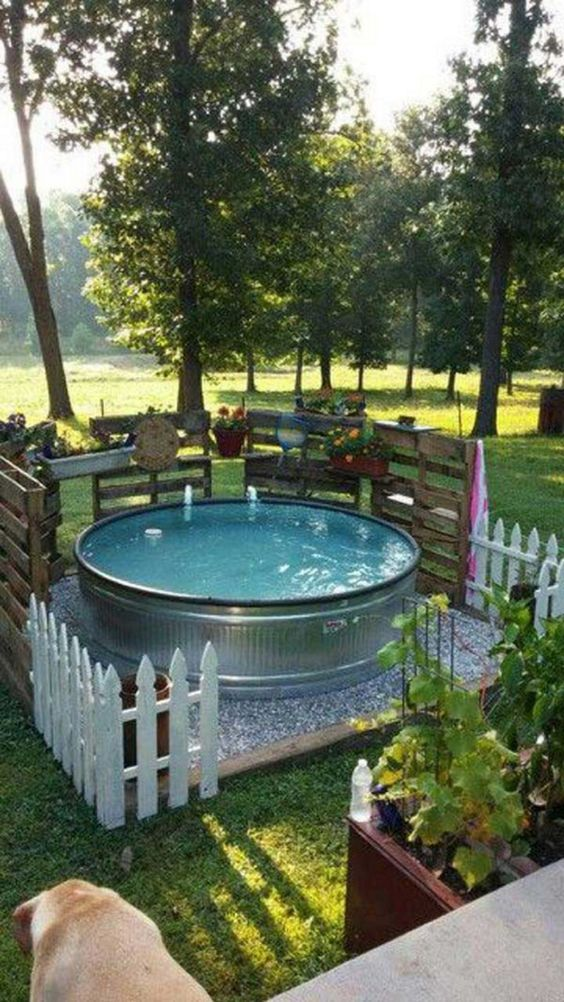 Above Ground Swimming Pool: Stock Tank Design