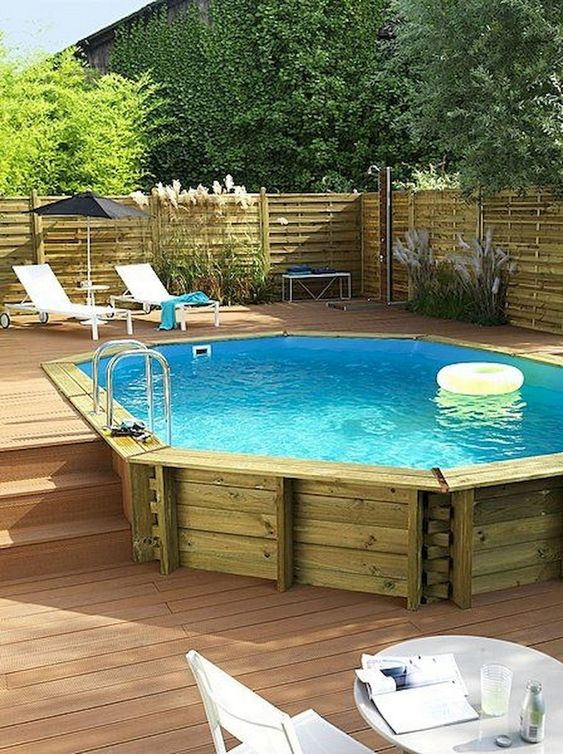Above Ground Swimming Pool: Gorgeous Rustic Design