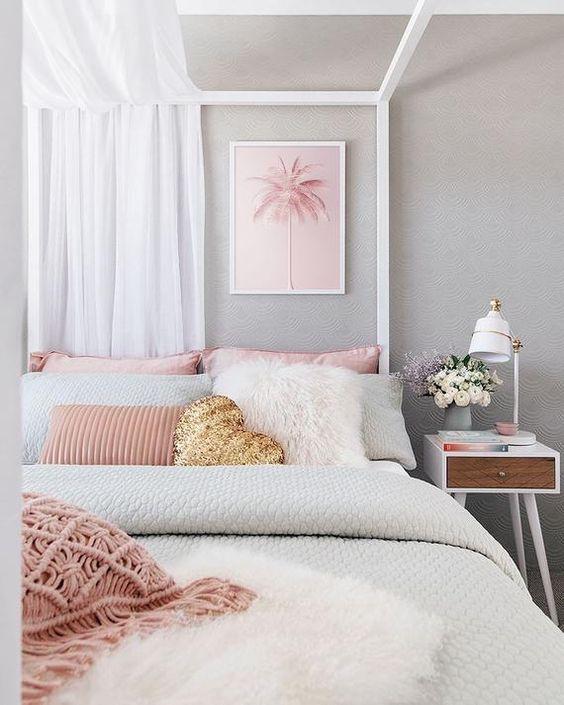 Gray Bedroom Ideas: Catchy Feminine Decor