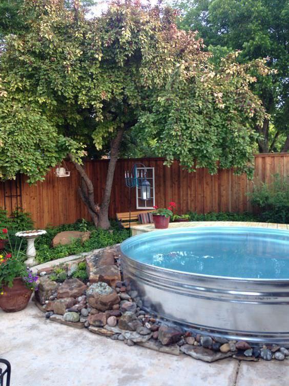 Small Swimming Pool Ideas: Stock Tank Pool