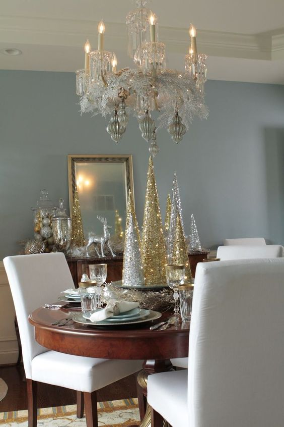 Christmas Dining Room Ideas: Chic Glamorous Decor