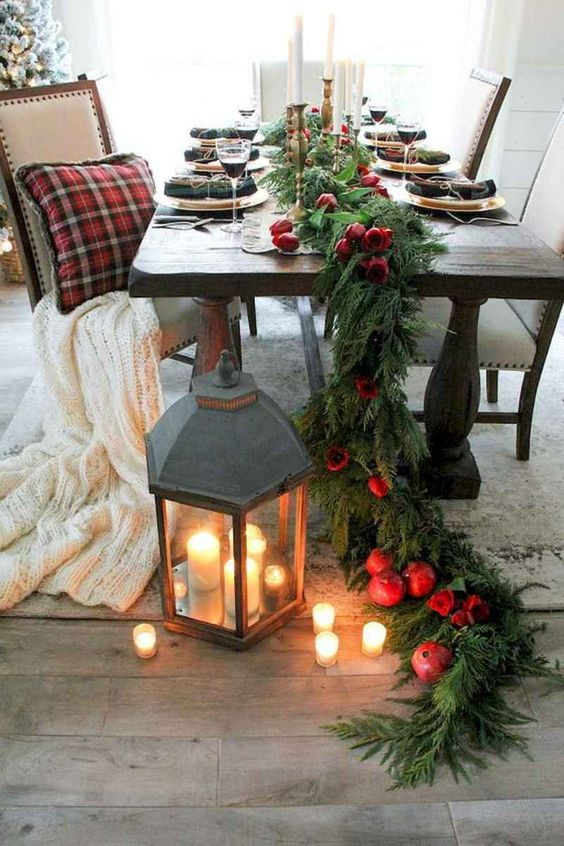 Christmas Dining Room Ideas: Catchy Earthy Decor