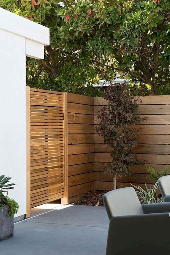 DIY Fence Landscaping 20
