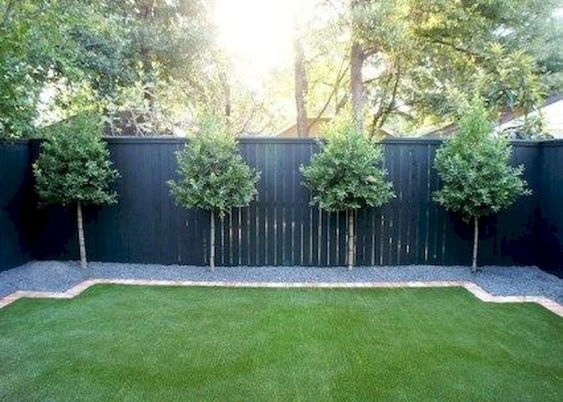 DIY Fence Landscaping 23