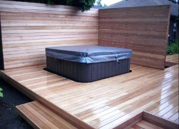 DIY Hot Tub Privacy feature