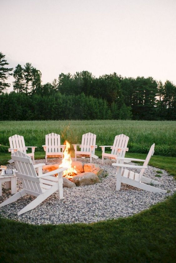 DIY Simple Backyard Ideas: Gorgeous White Design
