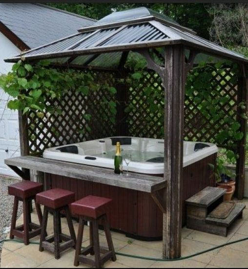 Hot Tub Patio Ideas: Entertaining Cozy Gazebo