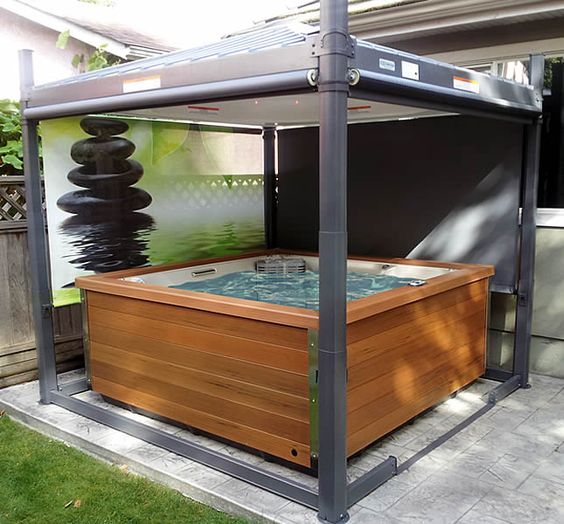 Hot Tub Patio Ideas 14
