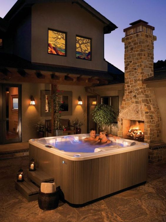 Hot Tub Patio Ideas: Modern Rustic Decor