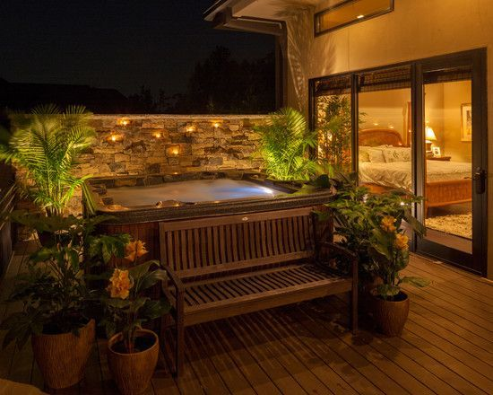 Hot Tub Patio Ideas 22