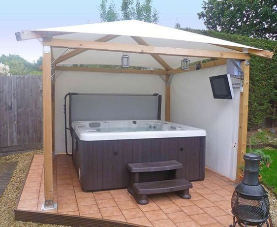 Hot Tub Patio Ideas 24