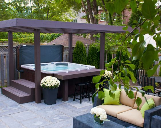 Hot Tub Patio Ideas 25