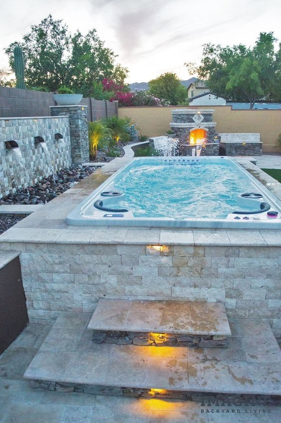 Hot Tub Patio Ideas: Stunning Rustic Decor