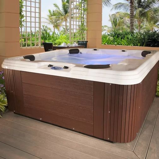 Hot Tub Patio Ideas: Modern Earthy Decor