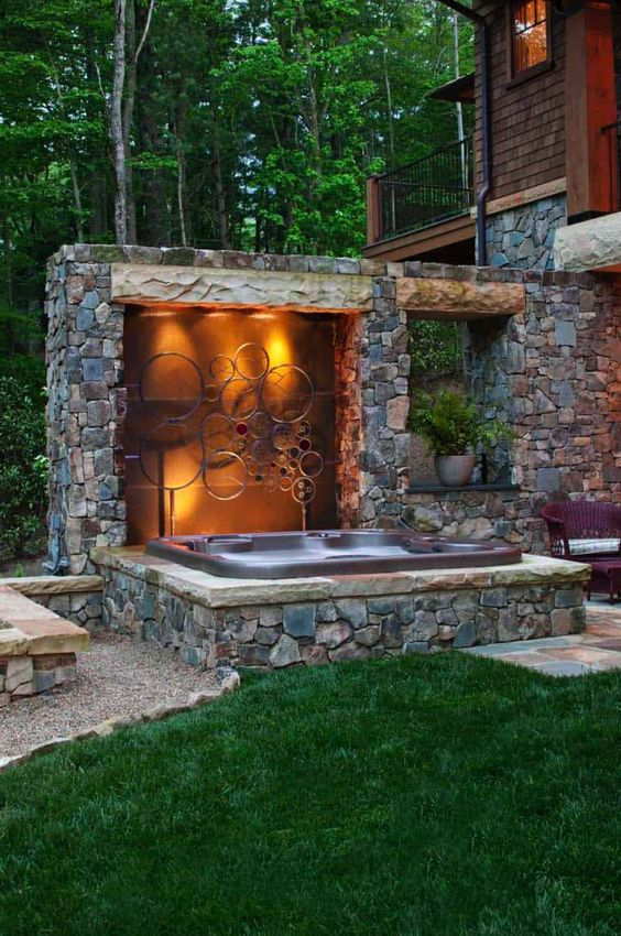 Hot Tub Patio Ideas 9