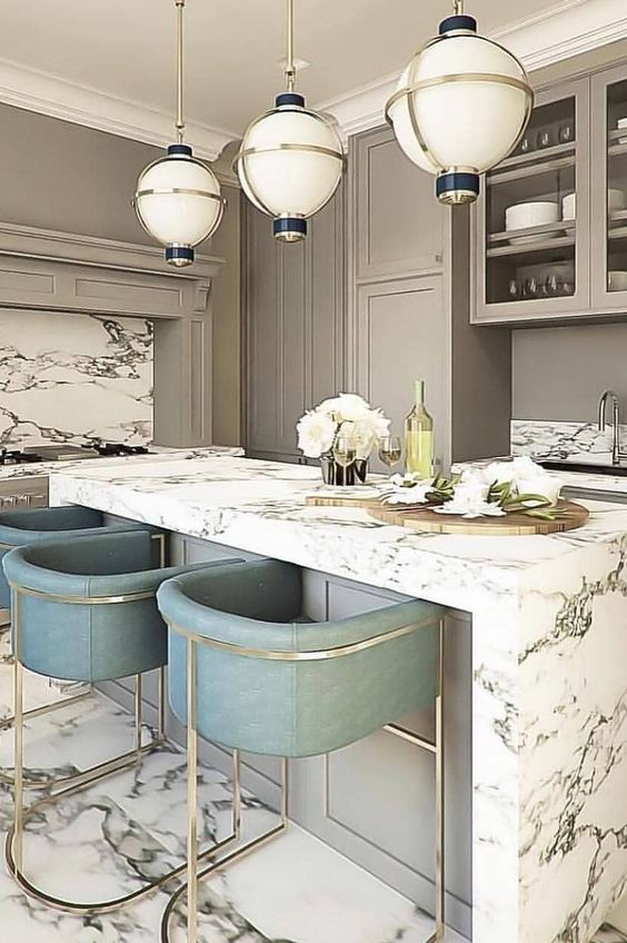 Neutral Kitchen Ideas: Glamour Earthy Decor