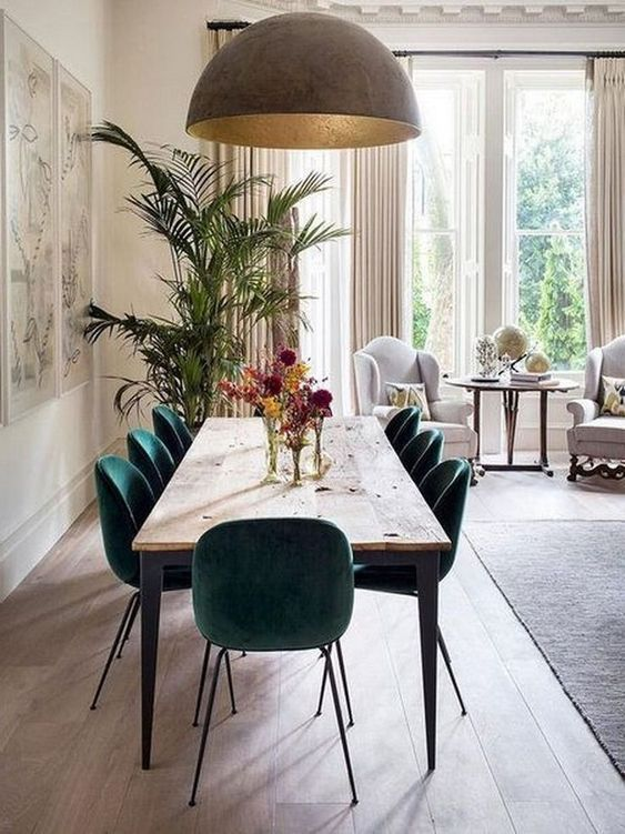 Simple Dining Room Ideas: Glamorous Natural Decor