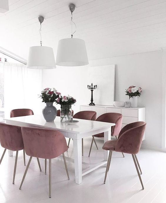Simple Dining Room Ideas: Gorgeous All-White Decor