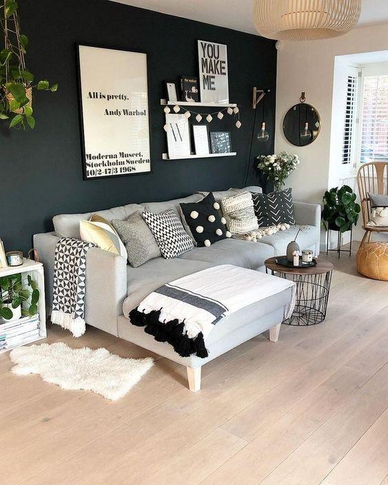 Simple Living Room Ideas: Earthy Monochrome Decor