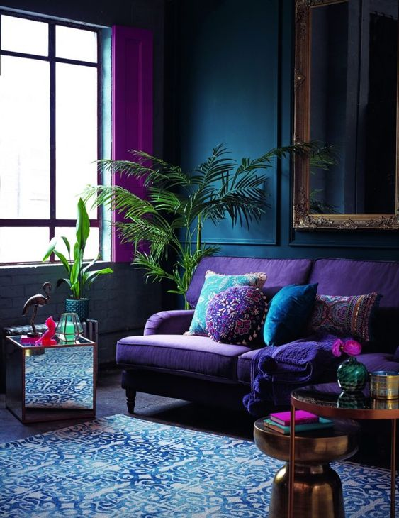 Blue Living Room Ideas: Stunning Eclectic Decor