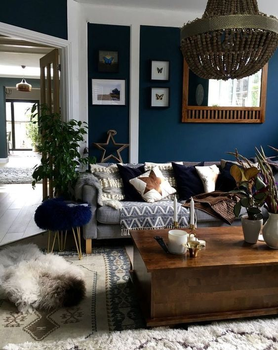 blue living room ideas 9