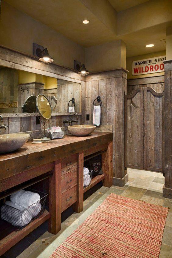rustic bathroom ideas 13