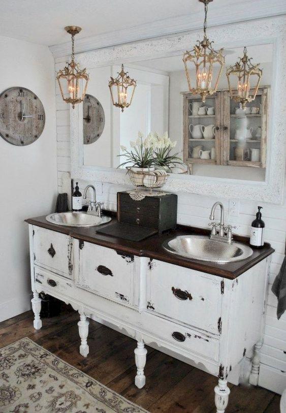Rustic Bathroom Ideas: Gorgeous Shabby Chic Decor
