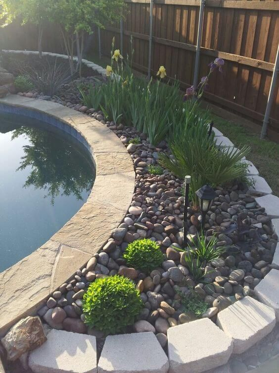 Swimming Pool Landscaping Ideas: Beautiful Rustic Decor