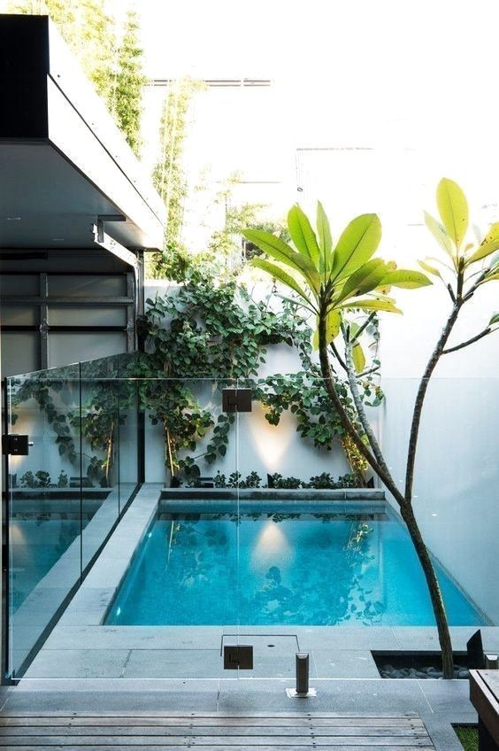 Swimming Pool Landscaping Ideas: Simple Minimalist Decor