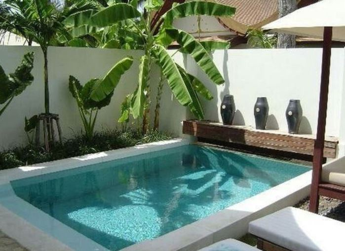 swimming pool landscaping ideas feature