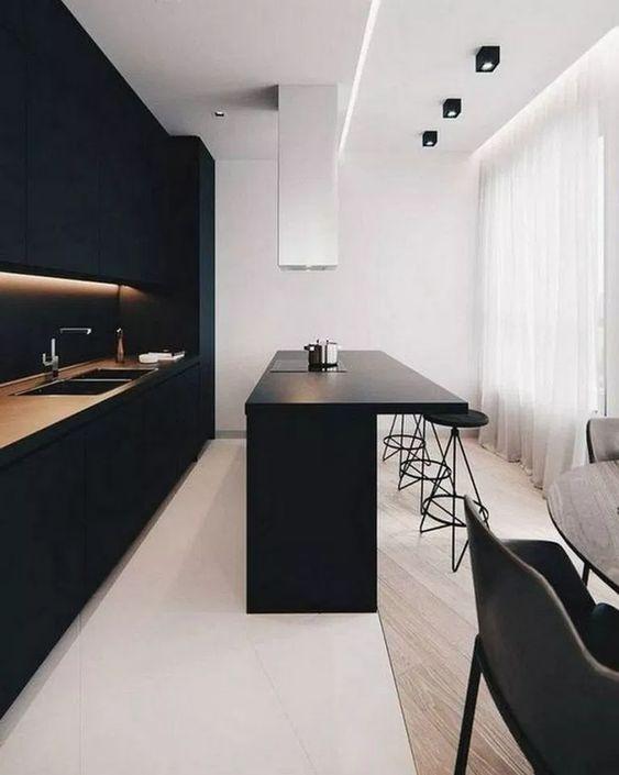 Black Kitchen Ideas: Earthy Monochrome Decor