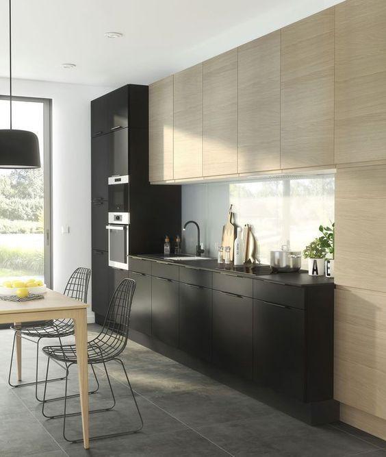 Black Kitchen Ideas: Modern Rustic Decor