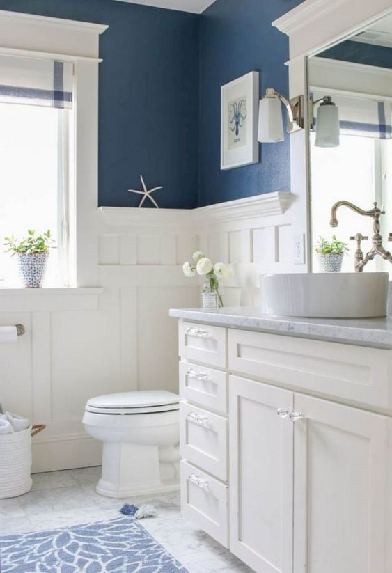Blue Bathroom Ideas: Gorgeous Nautical Decor