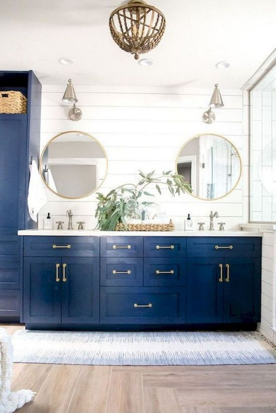 Blue Bathroom Ideas: Stylish Earthy Decor